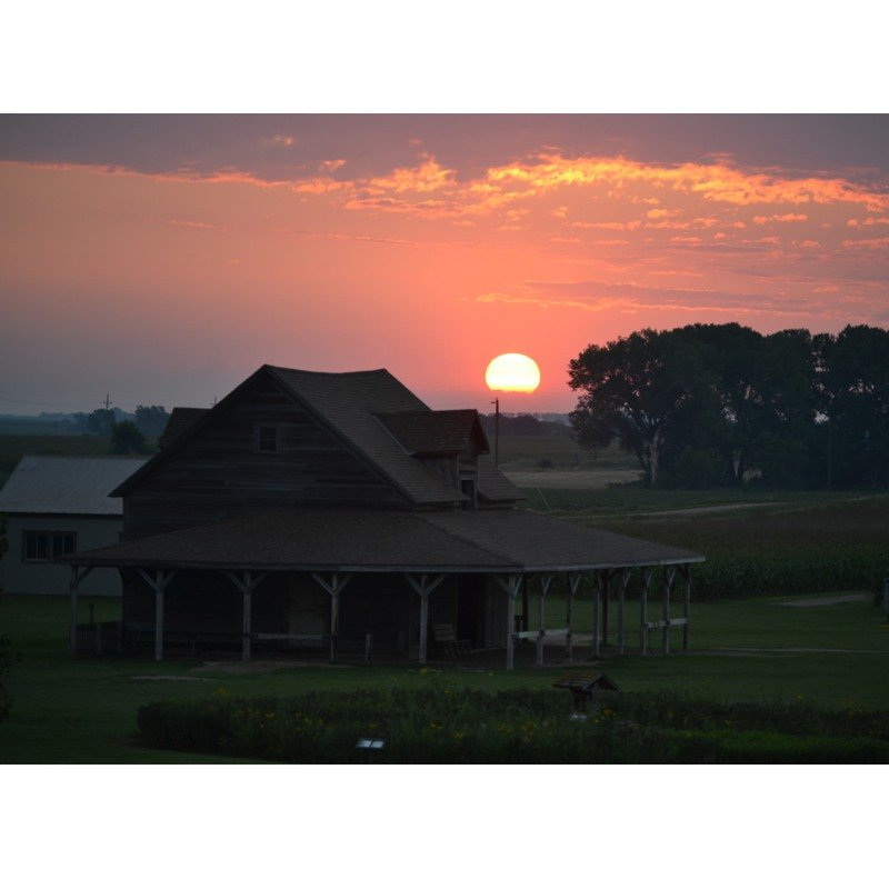 Sunrise in De Smet, South Dakota.