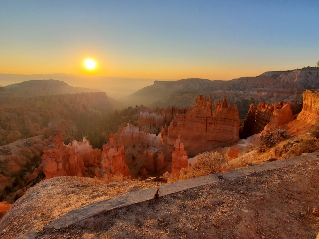 Sunrise over Bryce Canyon National Park.