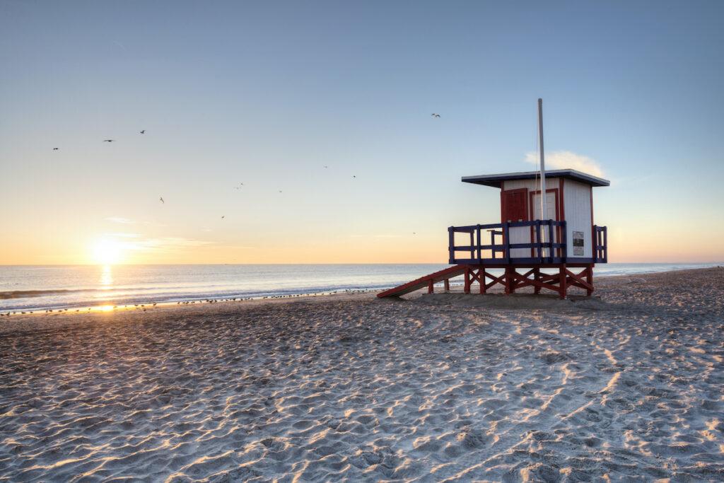 Sunrise over Coca Beach on Florida's Space Coast.
