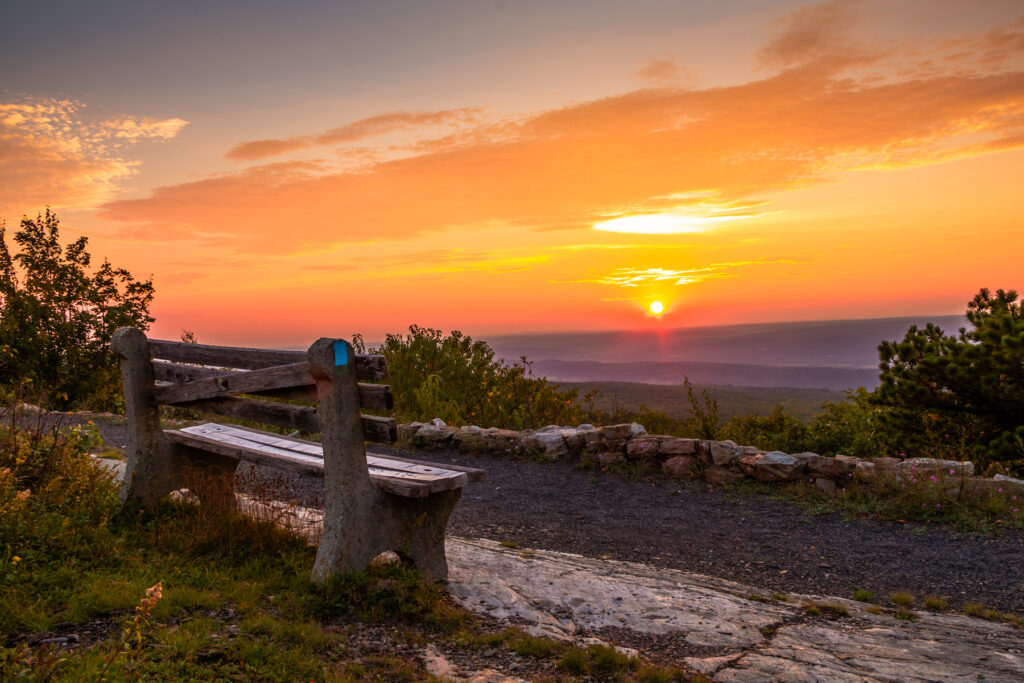 Sunset at High Point State Park in New Jersey.