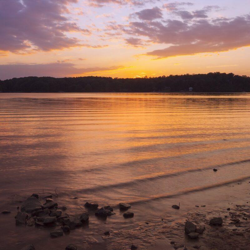 Sunset at Lake Norman, North Carolina.