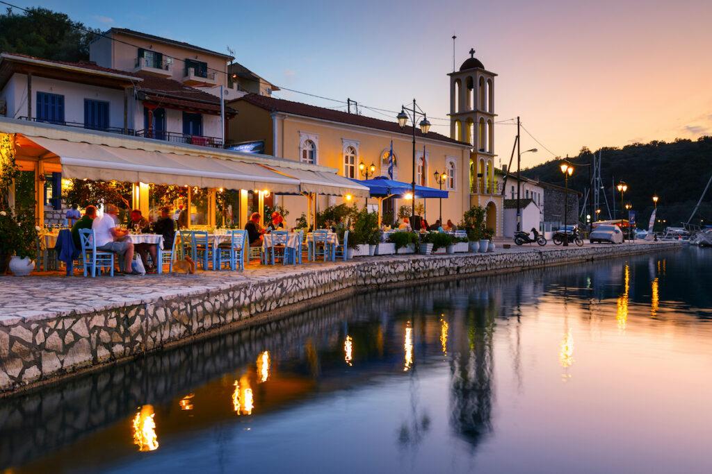 Sunset at Meganisi, Greece.