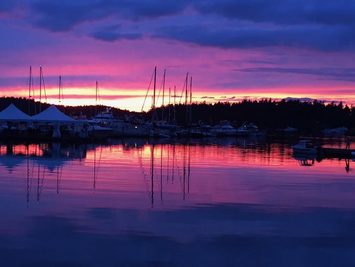 Sunset at Roche Harbor, San Juan Islands