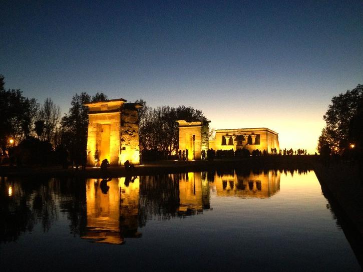 Sunset at Templo de Debod, Madrid, Spain