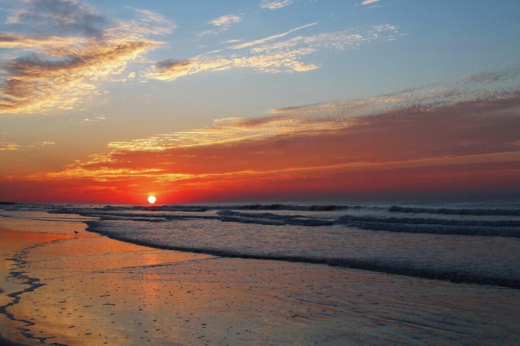 Sunset Beach in Brunswick, North Carolina.