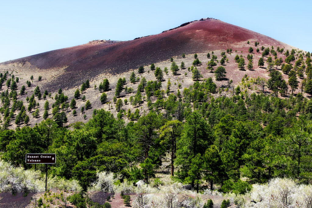 Sunset Crater Volcano National Monument in Arizona.