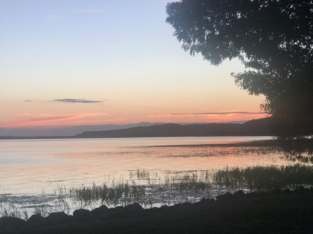 Sunset in the Grant River Recreation Area and Campground.
