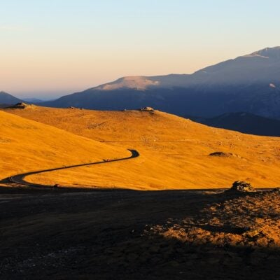 Sunset on Colorado's Trail Ridge Road.