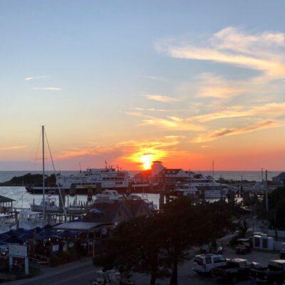 Sunset on Ocracoke Island, North Carolina.
