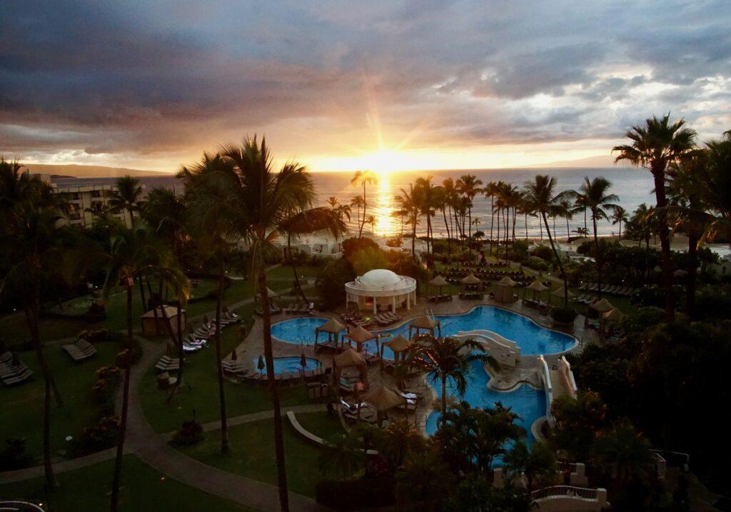 Sunset on the coast of Maui.