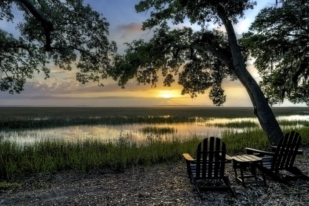 Sunset over Beaufort, South Carolina.