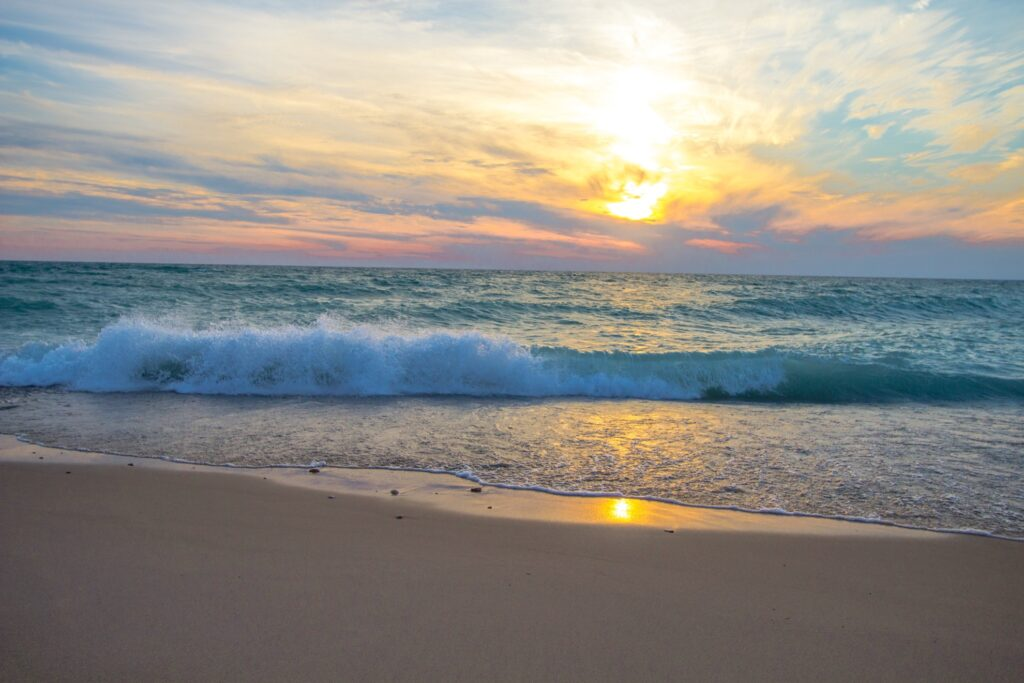 Sunset over Empire Beach in Michigan.
