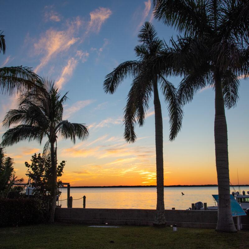 Sunset over Florida's Pine Island.