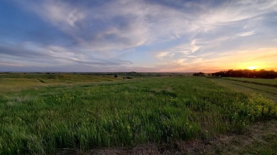 Sunset over Fort Abraham Lincoln State Park.
