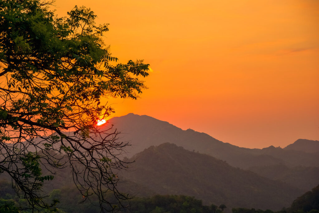 Sunset over Minca, Colombia.