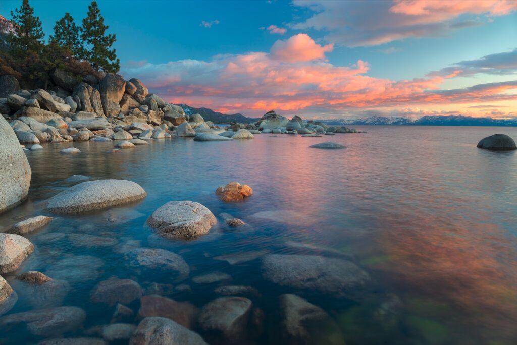 Sunset over North Lake Tahoe.