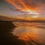 Sunset over the beach in Kiawah Island, South Carolina.