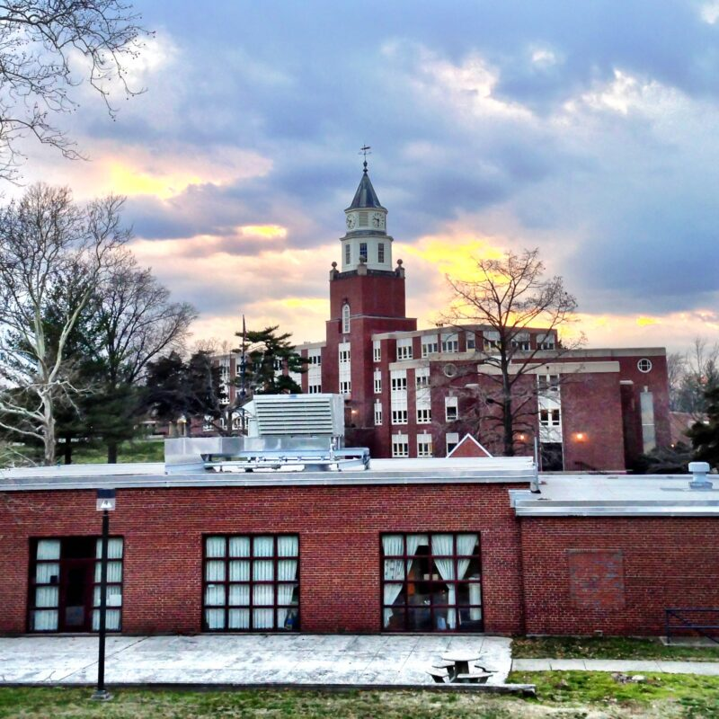 Sunset over the Southern Illinois University campus in Carbondale.
