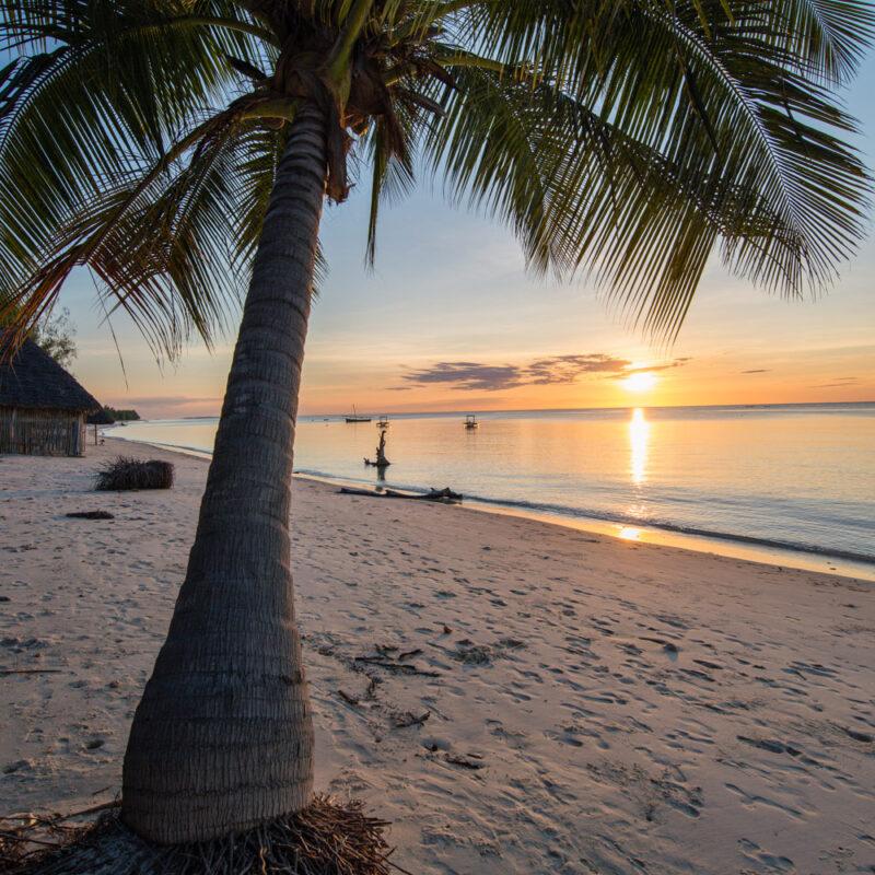 Sunset views from Butiama Beach Lodge on Mafia Island.