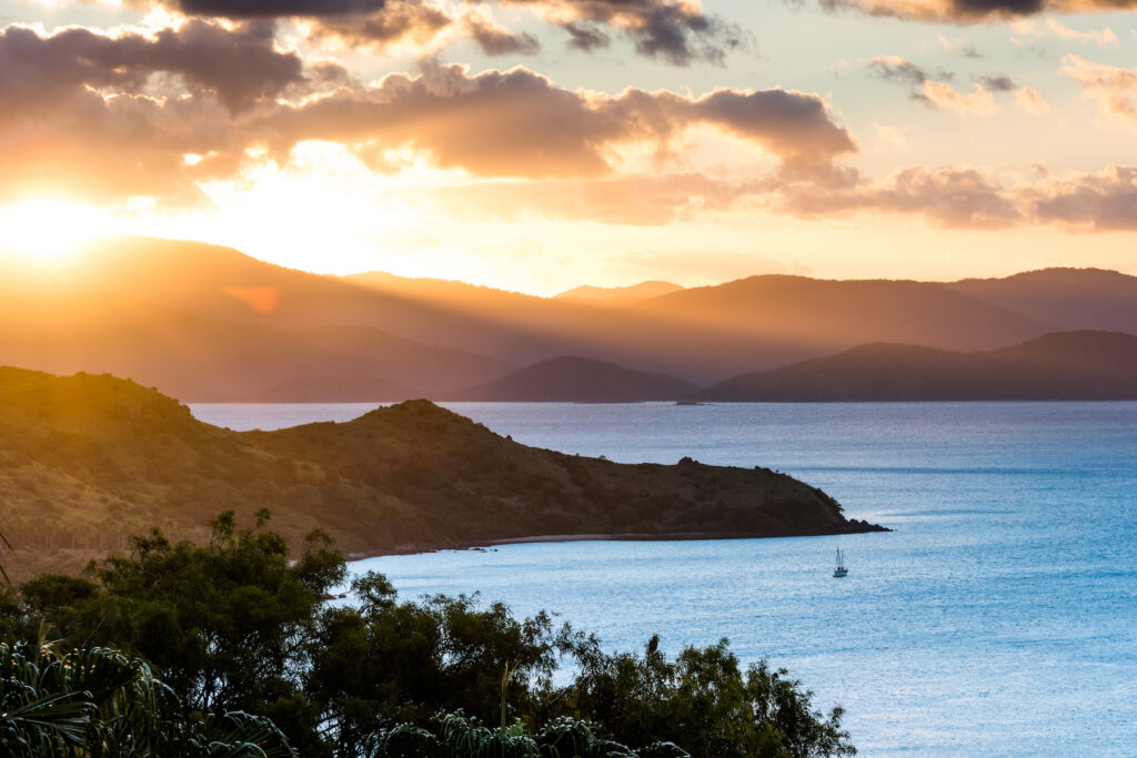 Sunset views from One Tree Hill on Hamilton Island.