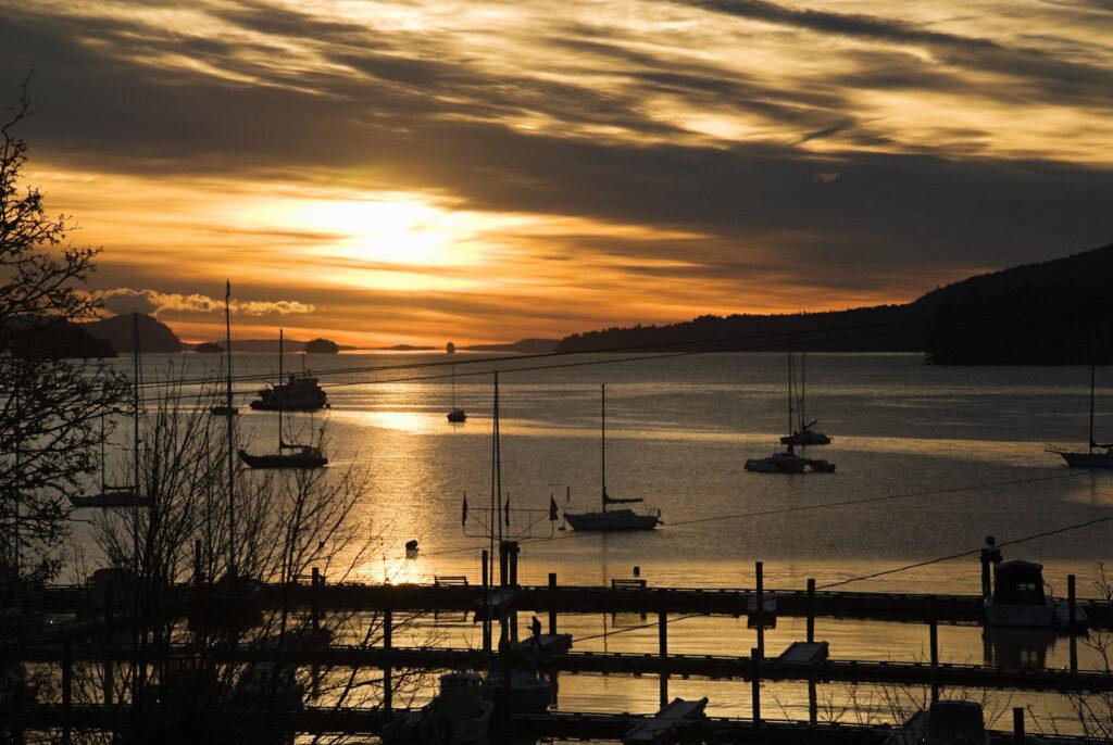 Sunset views from Salt Spring Island.
