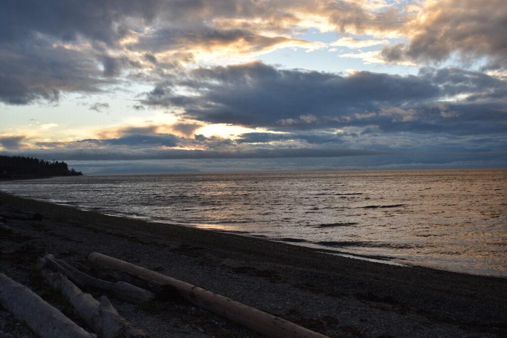Sunset views from Semiahmoo Resort in Washington.