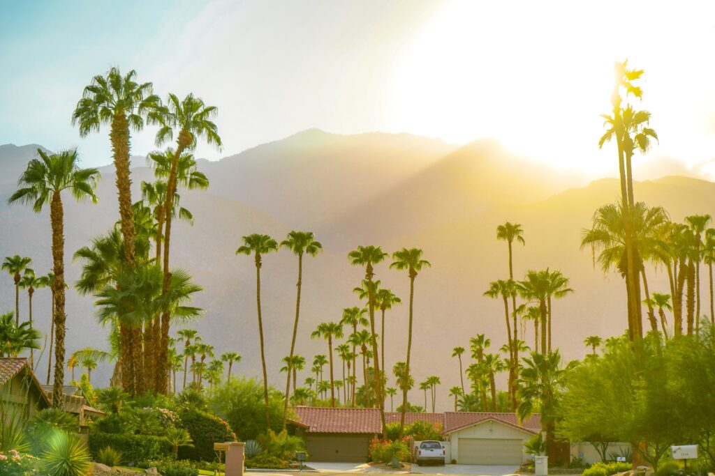 Sunshine in Greater Palm Springs, California.