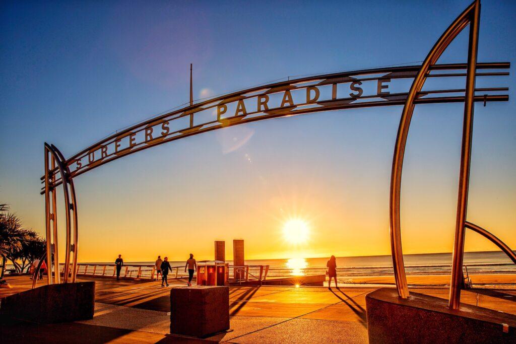 Surfers Paradise in Gold Coast, Australia.