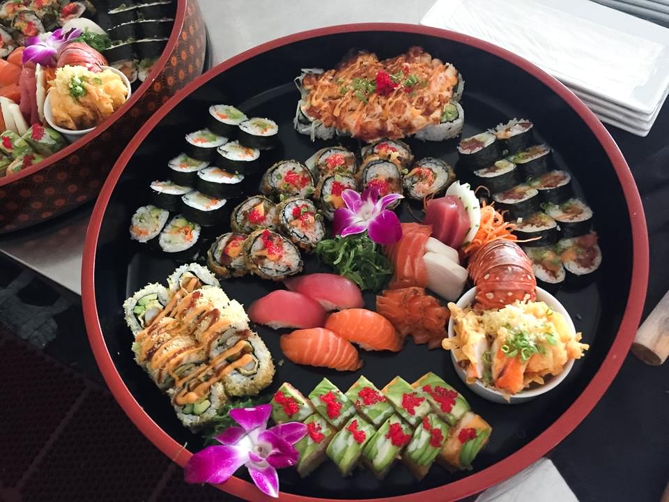 Sushi from Nishi Restaurant in Barbados.
