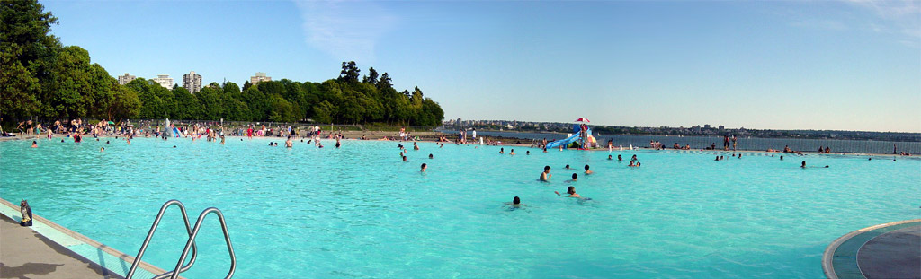 Swimming pool at Second Beach