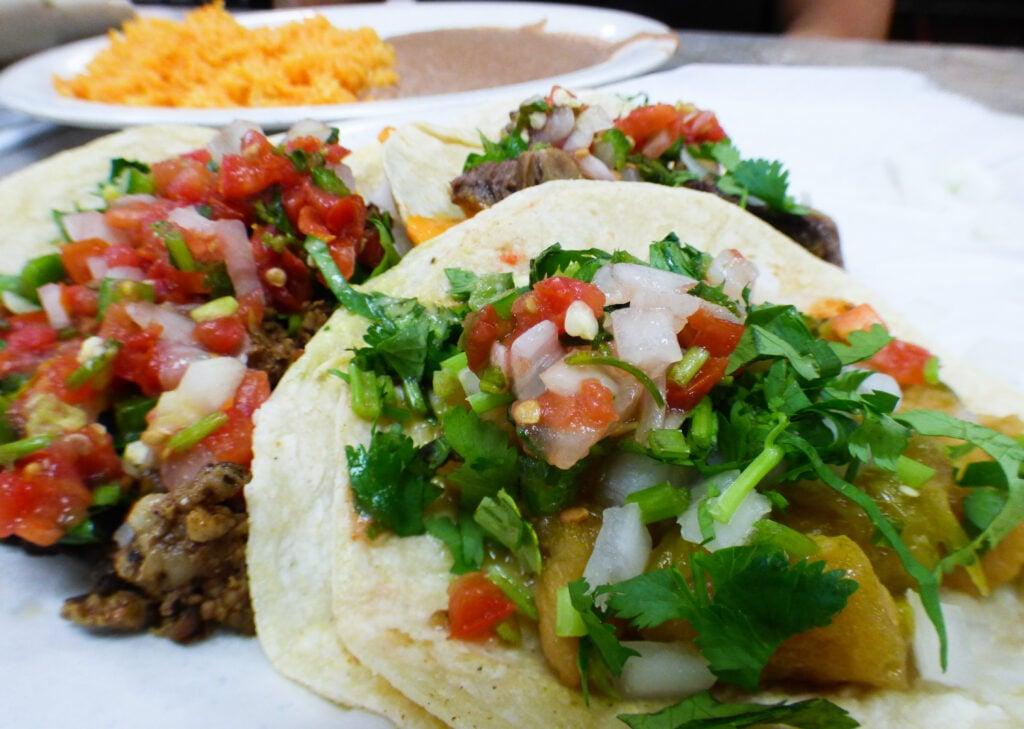 Tacos from Bonito Michoacan.