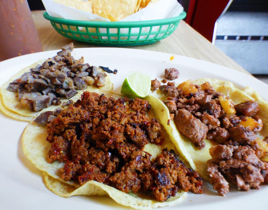 Tacos from El Camino Real.