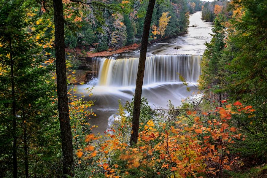Tahquamenon Falls in Michigan.