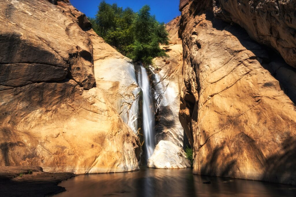 Tahquitz Falls in Tahquitz Canyon.