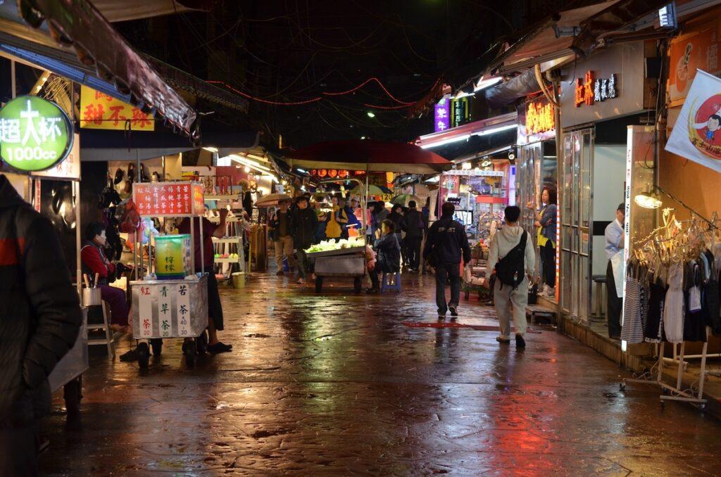 Taipei night market, Taiwan.