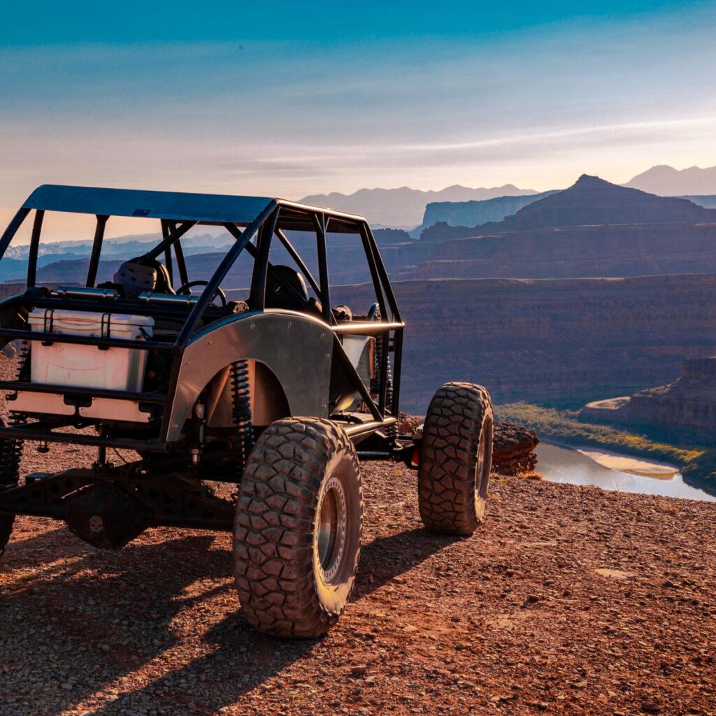 Taking an ATV off road in Moab, Utah.