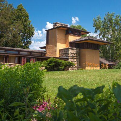 Taliesin, a Frank Lloyd Wright design in Spring Green, Wisconsin.