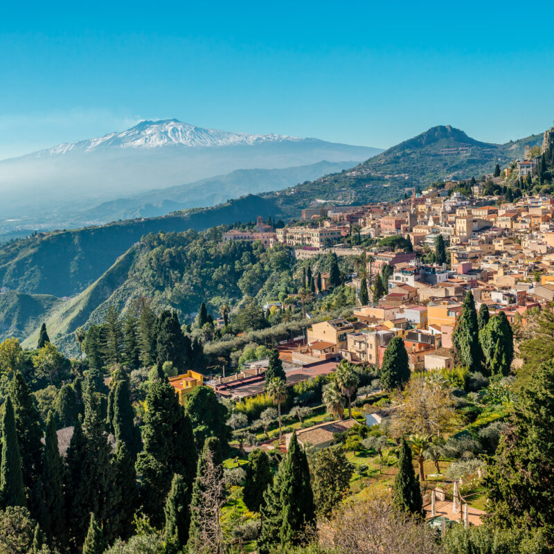 Taormina, a town in Sicily, Italy.
