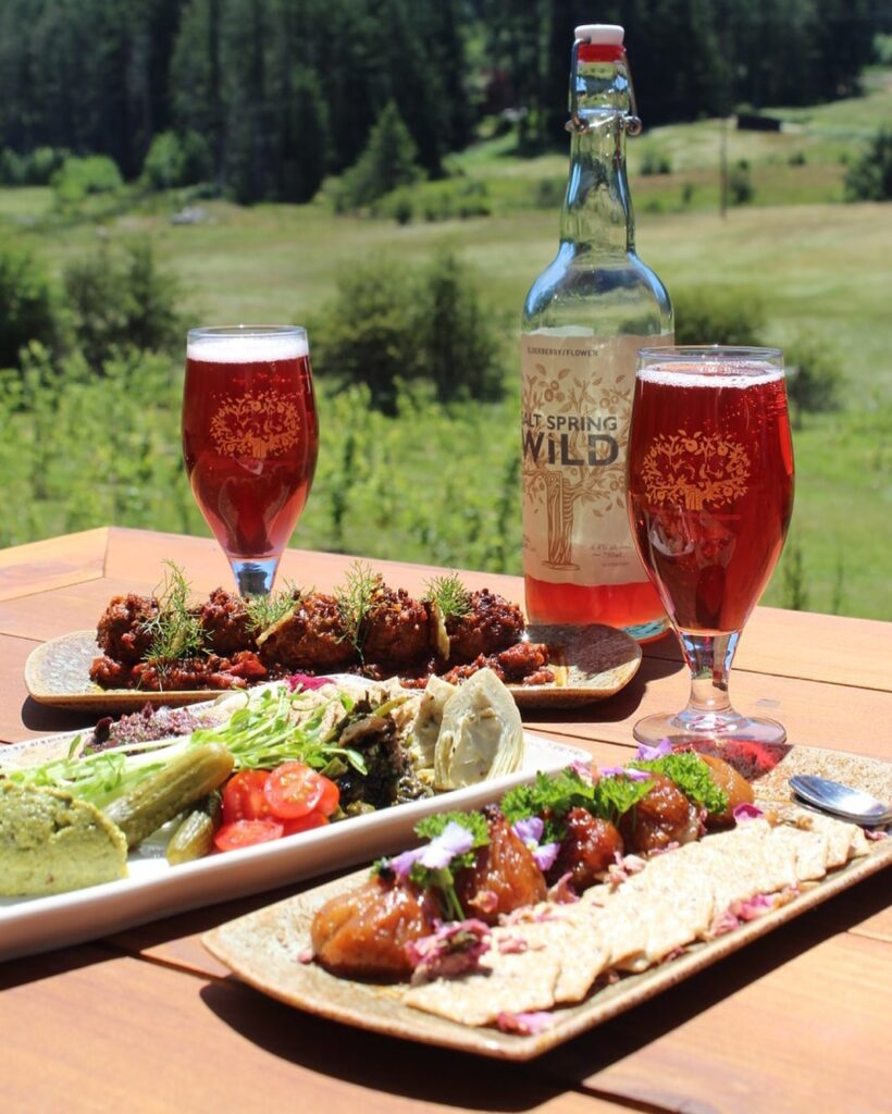 Tapas and cider from Salt Spring Wild Cider.
