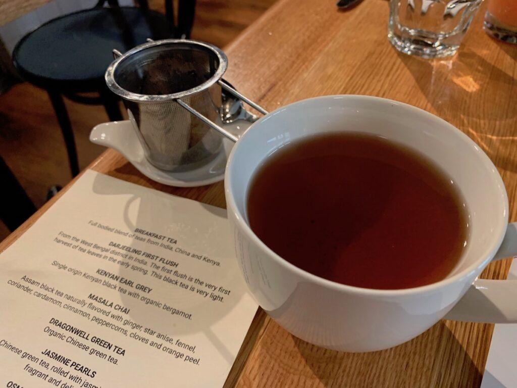 Tea and tea list in Winnipeg.