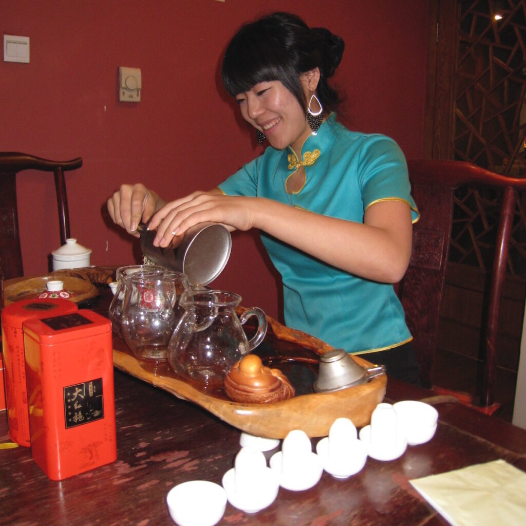 Tea tasting in China.