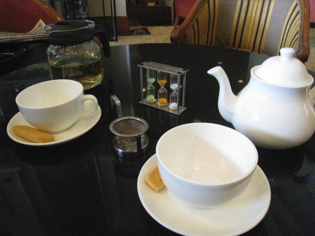 Tea time with tea timer.
