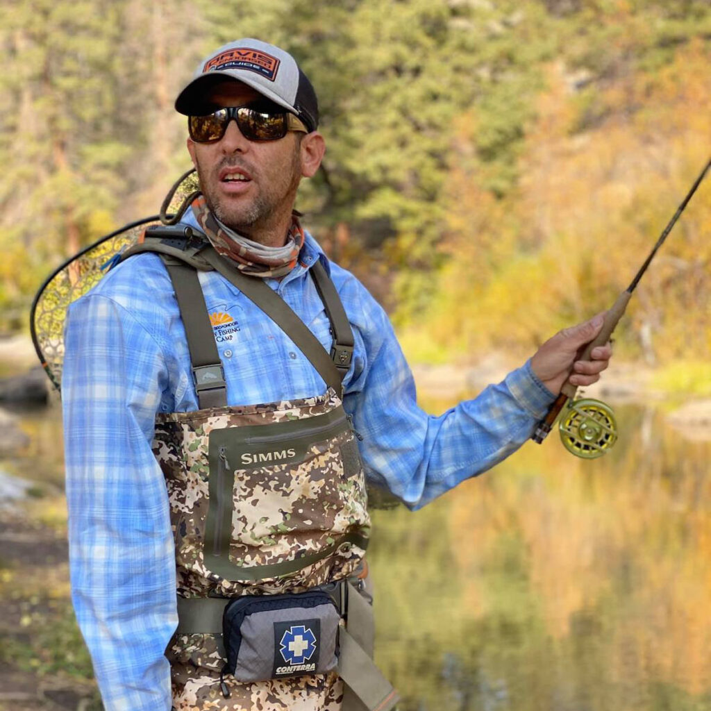 Ted Demetriou, a fly fishing guide.