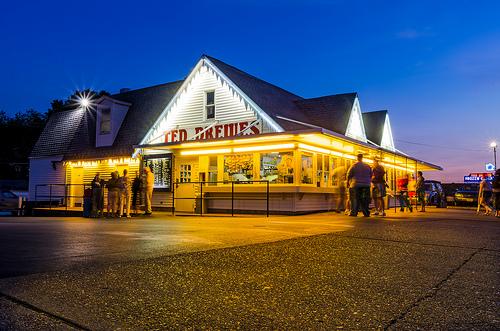 Ted Drewes frozen custard shop in St. Louis, Missouri