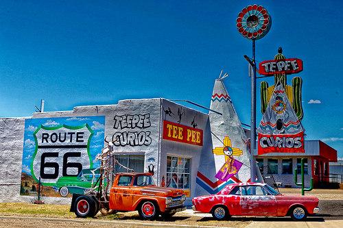 Tee Pee Curios exterior, Route 66, Tucumcari