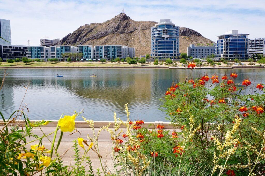 Tempe Town Lake in Arizona.