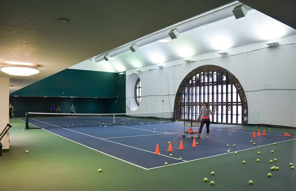 Tennis courts at Grand Central Station in New York City.