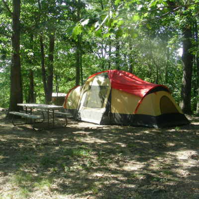 Tent camping in Alabama.