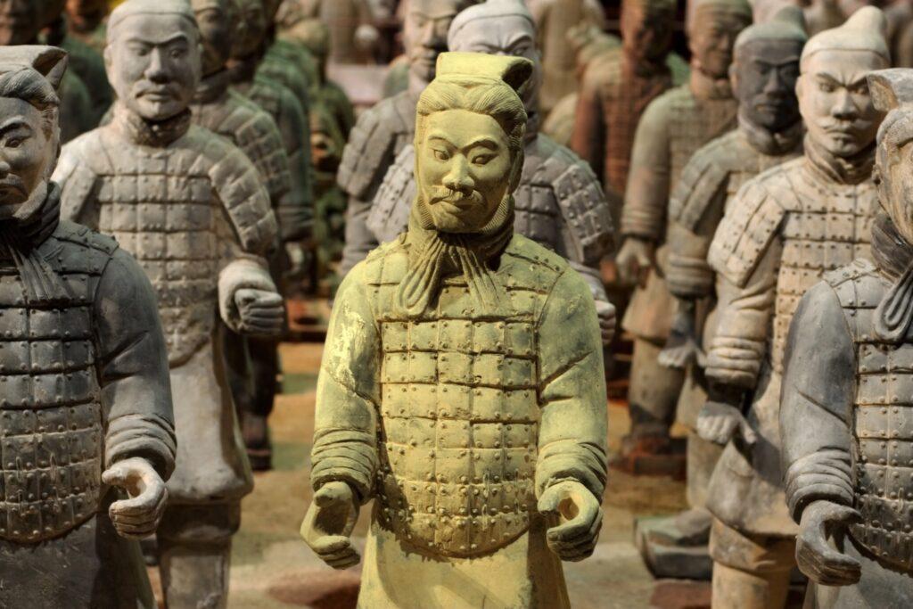 Terracotta warriors in Xi'an, China.