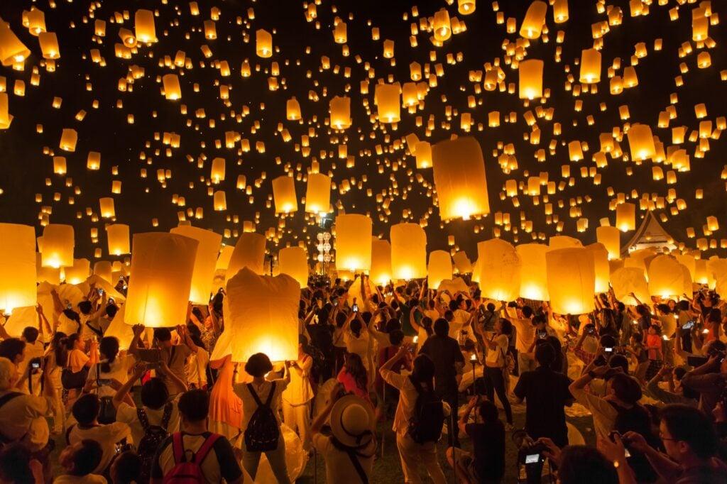 Thailand's Yi Peng Lantern Festival.